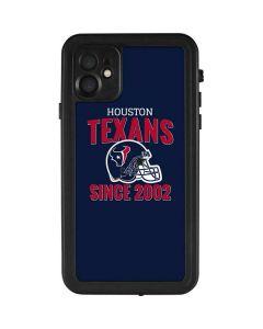 Houston Texans Helmet iPhone 11 Waterproof Case