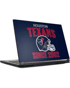 Houston Texans Helmet MSI GS65 Stealth Laptop Skin