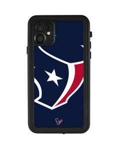 Houston Texans Large Logo iPhone 11 Waterproof Case