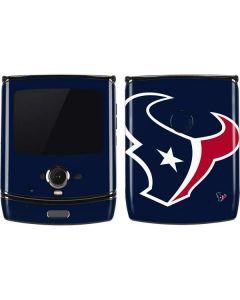 Houston Texans Large Logo Motorola RAZR Skin