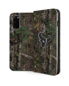 Houston Texans Realtree Xtra Green Camo Galaxy S20 Folio Case