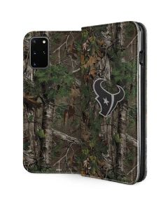 Houston Texans Realtree Xtra Green Camo Galaxy S20 Plus Folio Case