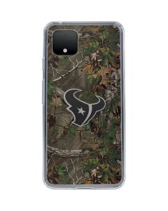 Houston Texans Realtree Xtra Green Camo Google Pixel 4 Clear Case