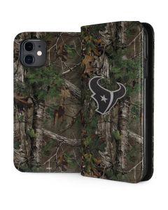 Houston Texans Realtree Xtra Green Camo iPhone 11 Folio Case