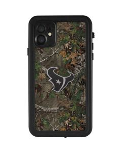 Houston Texans Realtree Xtra Green Camo iPhone 11 Waterproof Case