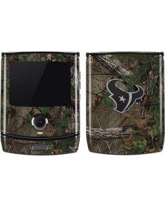 Houston Texans Realtree Xtra Green Camo Motorola RAZR Skin