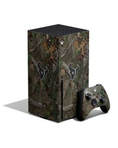 Houston Texans Realtree Xtra Green Camo Xbox Series X Bundle Skin