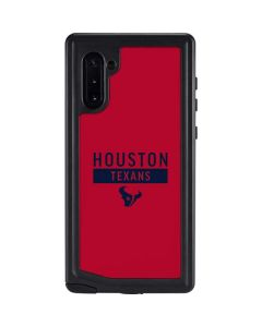 Houston Texans Red Performance Series Galaxy Note 10 Waterproof Case