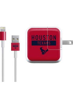 Houston Texans Red Performance Series iPad Charger (10W USB) Skin