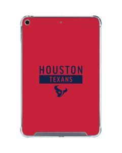 Houston Texans Red Performance Series iPad Mini 5 (2019) Clear Case