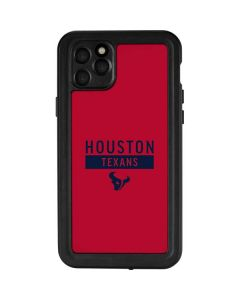 Houston Texans Red Performance Series iPhone 11 Pro Max Waterproof Case