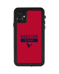 Houston Texans Red Performance Series iPhone 11 Waterproof Case