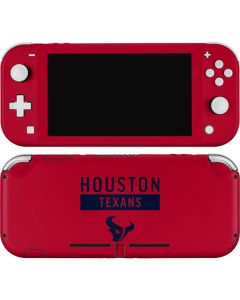 Houston Texans Red Performance Series Nintendo Switch Lite Skin