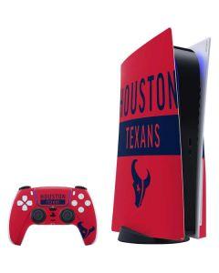 Houston Texans Red Performance Series PS5 Bundle Skin