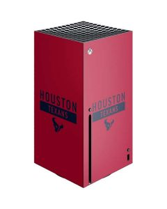 Houston Texans Red Performance Series Xbox Series X Console Skin