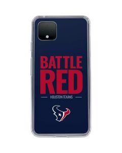 Houston Texans Team Motto Google Pixel 4 Clear Case