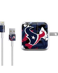 Houston Texans Tropical Print iPad Charger (10W USB) Skin