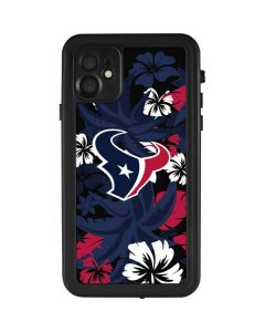 Houston Texans Tropical Print iPhone 11 Waterproof Case