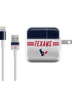 Houston Texans White Striped iPad Charger (10W USB) Skin