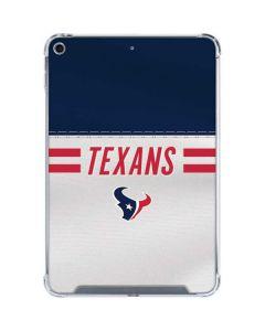 Houston Texans White Striped iPad Mini 5 (2019) Clear Case