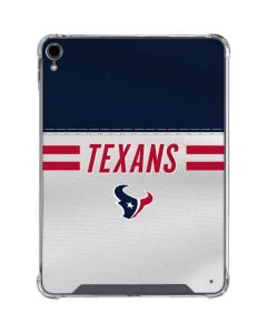 Houston Texans White Striped iPad Pro 11in (2018-19) Clear Case