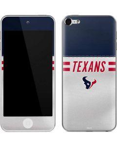 Houston Texans White Striped Apple iPod Skin