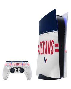 Houston Texans White Striped PS5 Bundle Skin