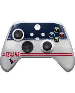 Houston Texans White Striped Xbox Series S Controller Skin