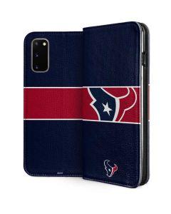 Houston Texans Zone Block Galaxy S20 Folio Case