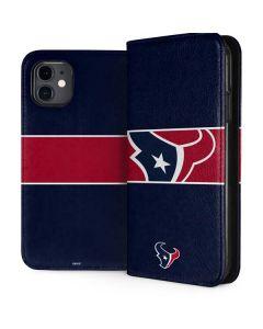 Houston Texans Zone Block iPhone 11 Folio Case