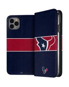 Houston Texans Zone Block iPhone 11 Pro Max Folio Case