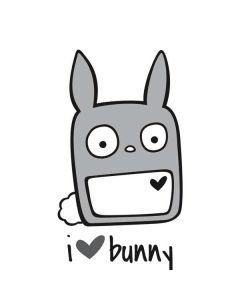 i HEART bunny Generic Laptop Skin
