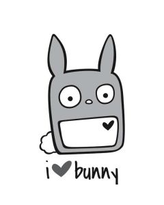 i HEART bunny Apple TV Skin