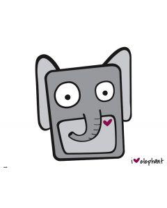 i HEART elephant Generic Laptop Skin