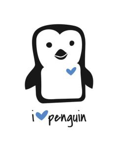 i HEART penguin Generic Laptop Skin