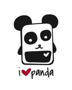 i HEART panda Apple TV Skin