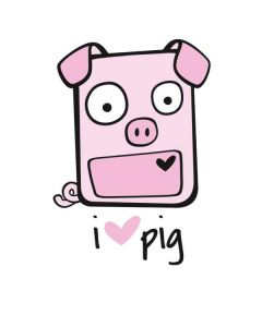 I HEART pig Motorola Droid Skin
