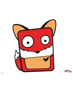 I HEART fox Motorola Droid Skin