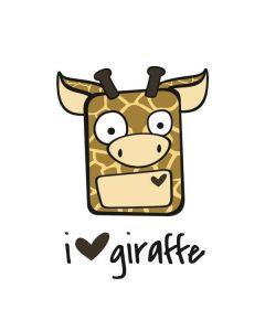 I HEART giraffe Motorola Droid Skin