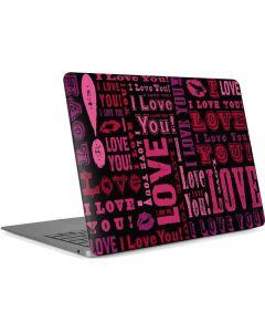 I Love You! Apple MacBook Air Skin