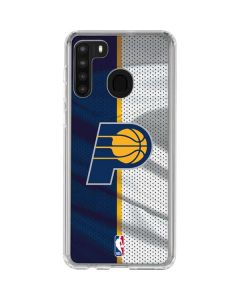 Indiana Pacers Away Jersey Galaxy A21 Clear Case