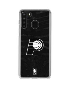 Indiana Pacers Black Animal Print Galaxy A21 Clear Case