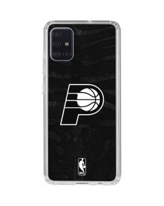 Indiana Pacers Black Animal Print Galaxy A51 Clear Case