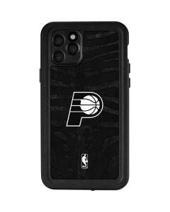 Indiana Pacers Black Animal Print iPhone 11 Pro Waterproof Case