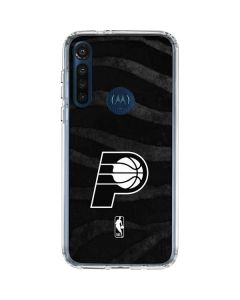 Indiana Pacers Black Animal Print Moto G8 Power Clear Case
