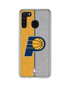 Indiana Pacers Canvas Galaxy A21 Clear Case