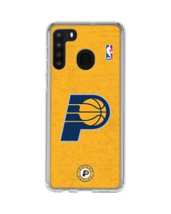 Indiana Pacers Distressed Galaxy A21 Clear Case