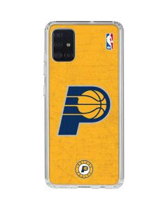 Indiana Pacers Distressed Galaxy A51 Clear Case