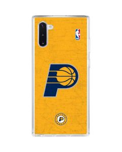 Indiana Pacers Distressed Galaxy Note 10 Clear Case