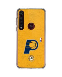Indiana Pacers Distressed Moto G8 Plus Clear Case